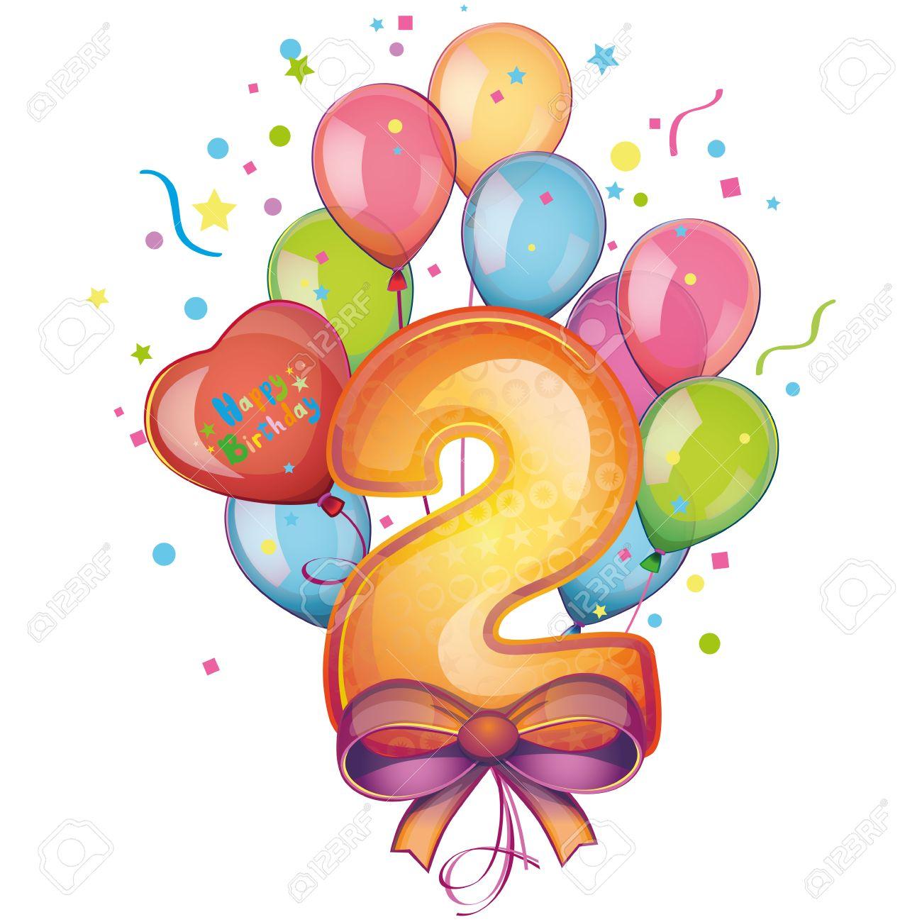 1300x1300 2 Happy Birthday Balloons Royalty Free Cliparts, Vectors,