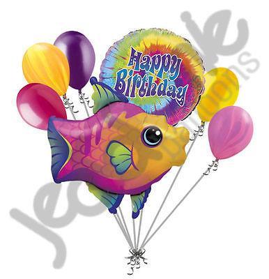 386x400 Fanciful Fish Happy Birthday Balloon Bouquet Jeckaroonie Balloons