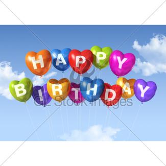 325x325 Happy Birthday Balloons Gl Stock Images