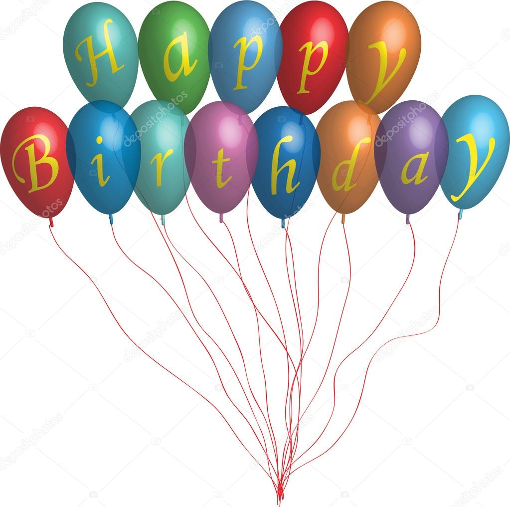 1023x1016 Happy Birthday Balloons Stock Vector Miloje