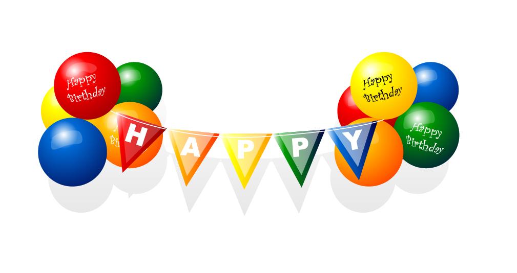 1009x534 Happy Birthday Balloon Vector Free Vector 4vector