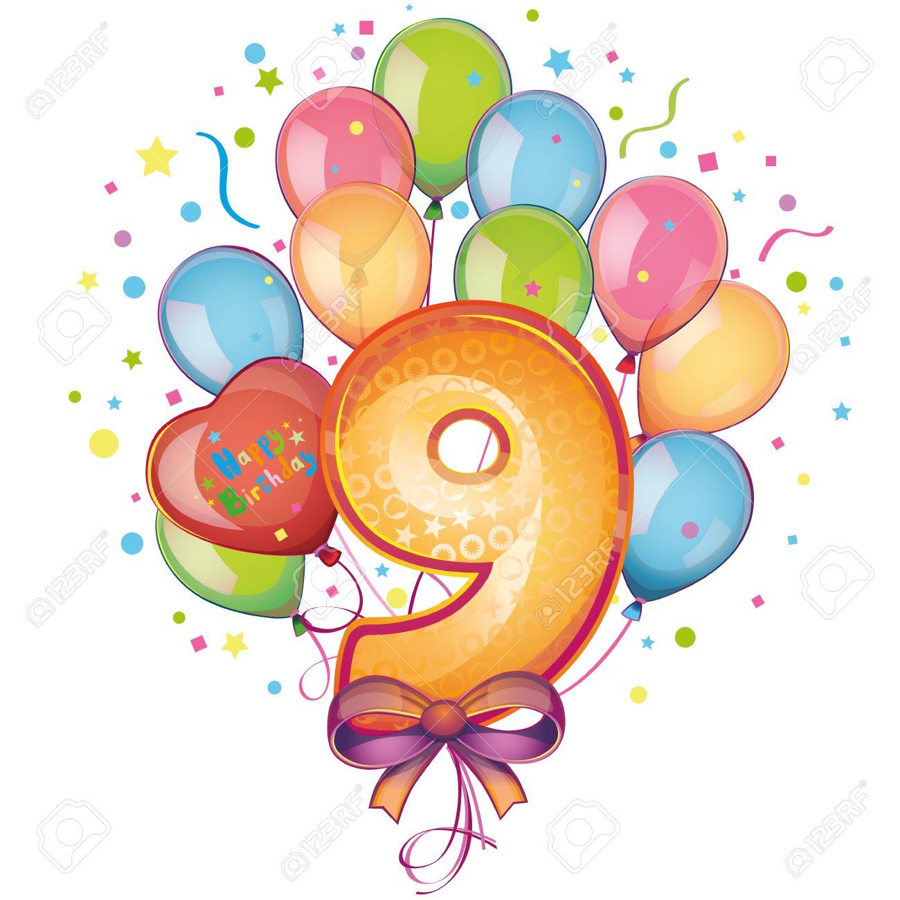 1300x1300 9 Happy Birthday Balloons Royalty Free Cliparts, Vectors,