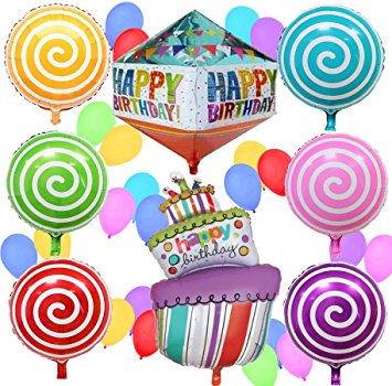 355x350 Happy Birthday Balloons