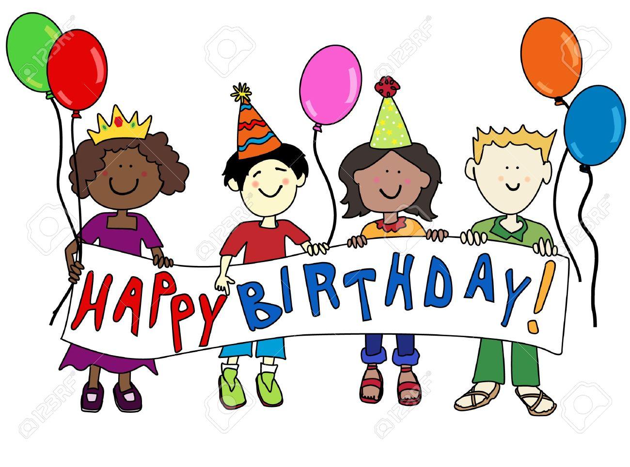 1300x964 Children Happy Birthday Clipart, Explore Pictures