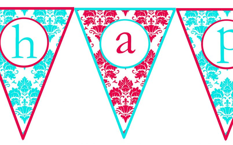 805x502 Colors Free Printable Happy Birthday Banner Templates Also