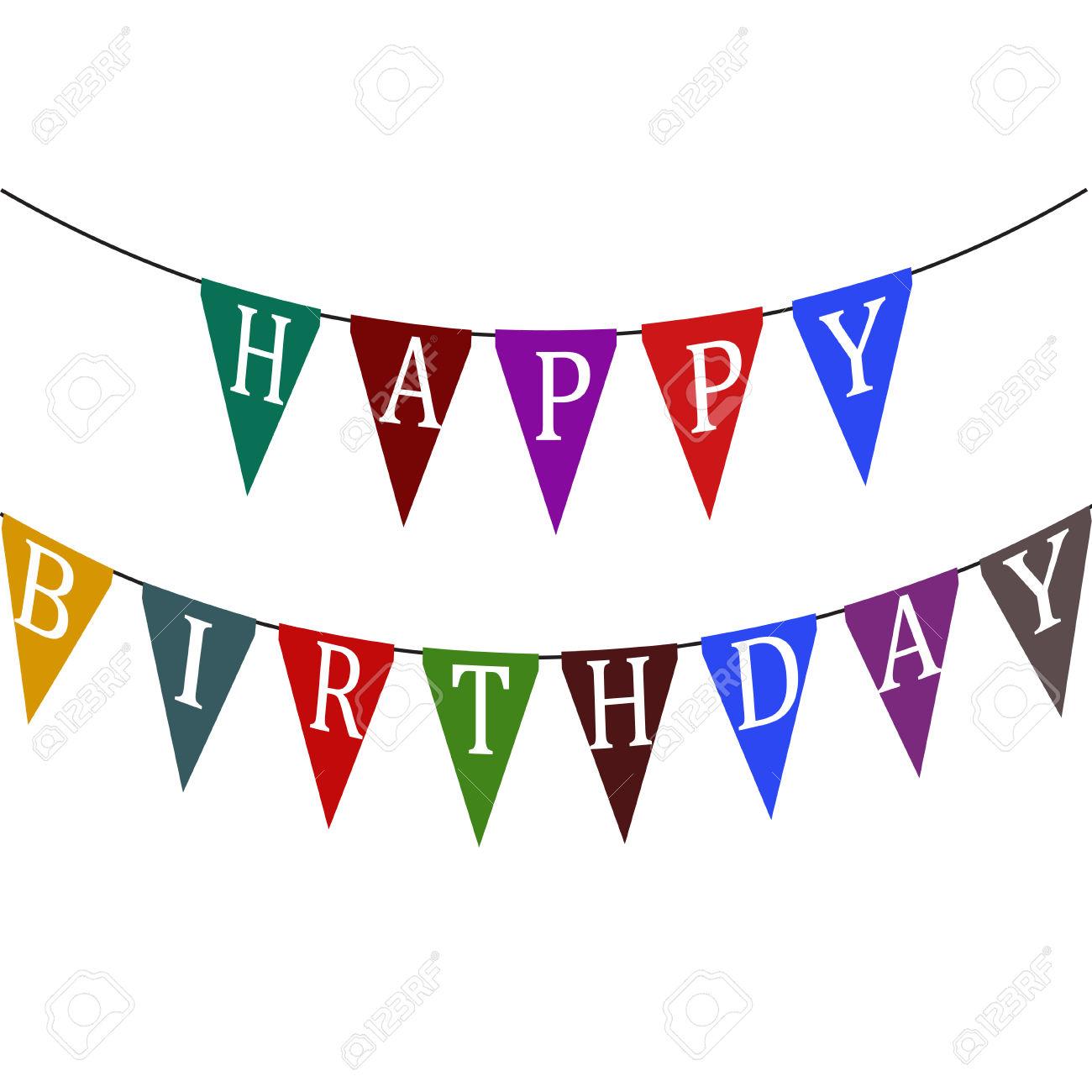 1300x1300 Flag Clipart Happy Birthday