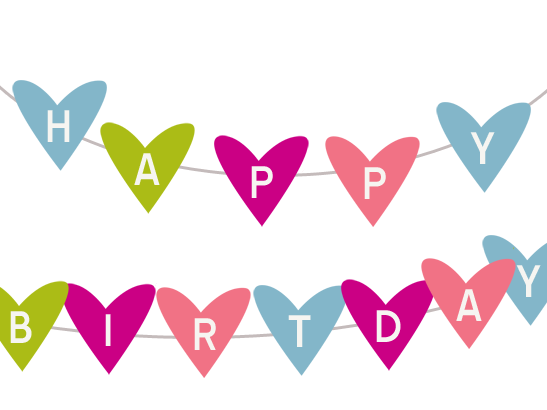 547x410 Free Printable Happy Birthday Banner