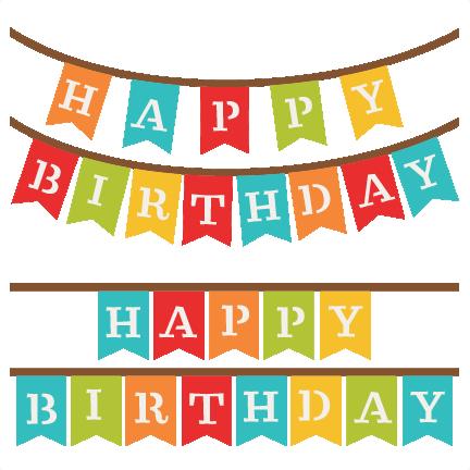 432x432 Happy Birthday Banner Clip Art Many Interesting Cliparts