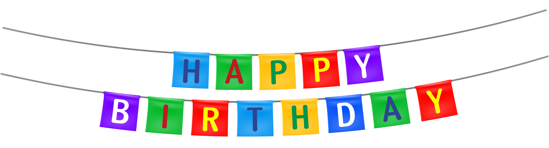 6031x1628 Happy Birthday Streamer Png Clipart Imageu200b Gallery Yopriceville