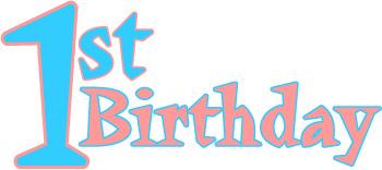 350x156 Happy First Birthday Clip Art Clipart Panda