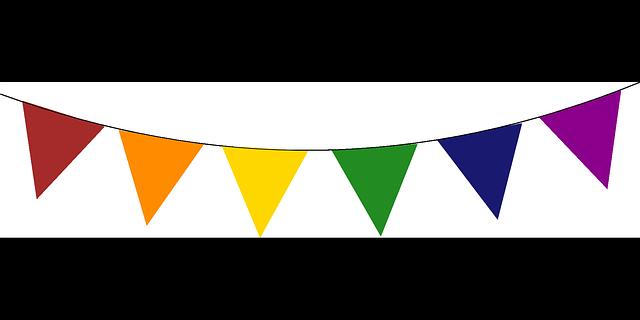 640x320 Triangle Clipart Birthday Flag Banner