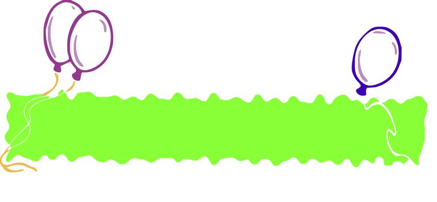 850x393 Birthday Banner Blank Green Clipart Panda