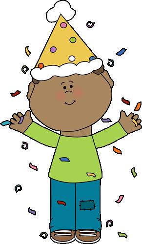 291x500 Birthday Boy With Confetti Clip Art