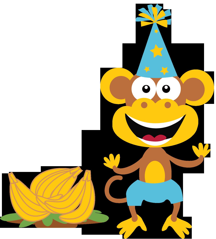 1355x1500 Birthday Clipart Monkey