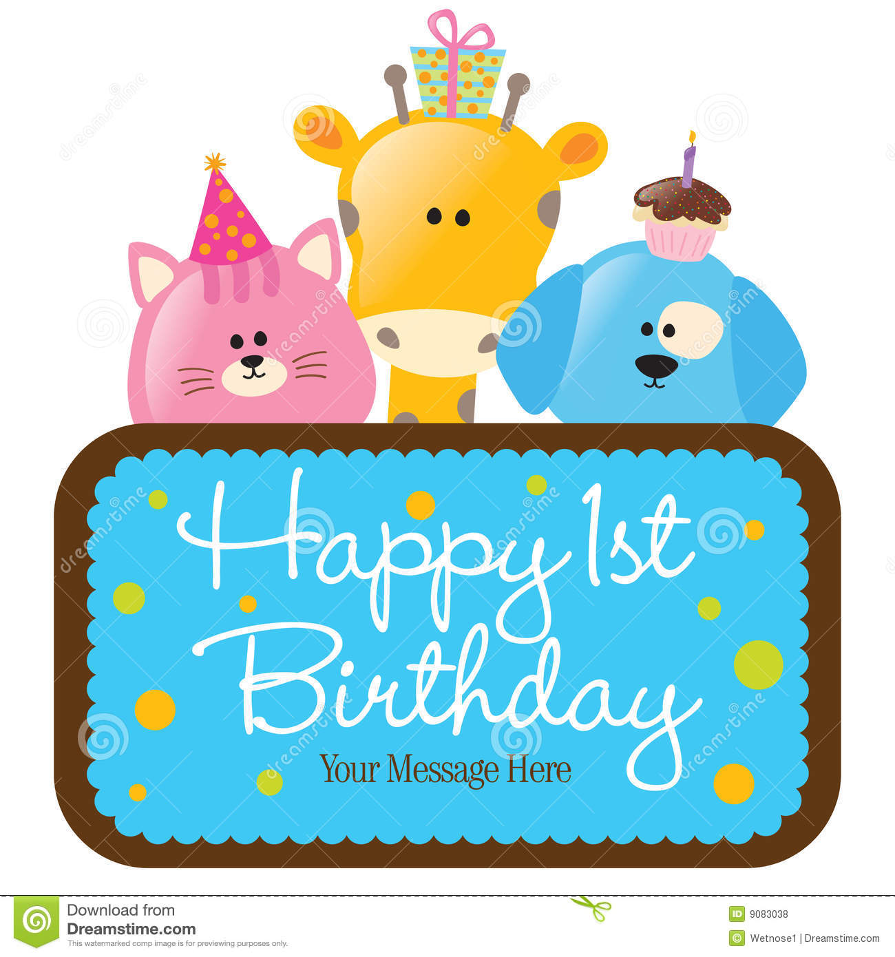 1300x1390 Baby Animal Clipart Happy Birthday