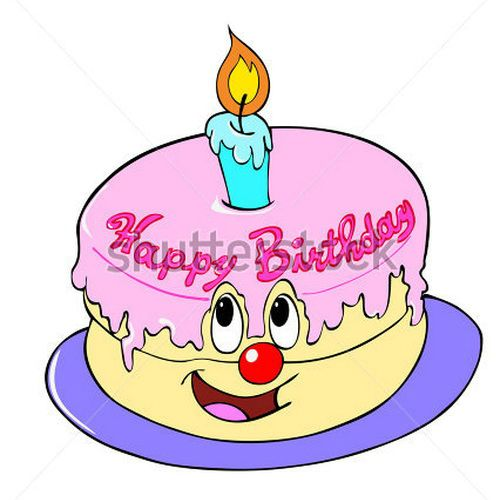 500x500 Animated Happy Birthday Cake Clip Art