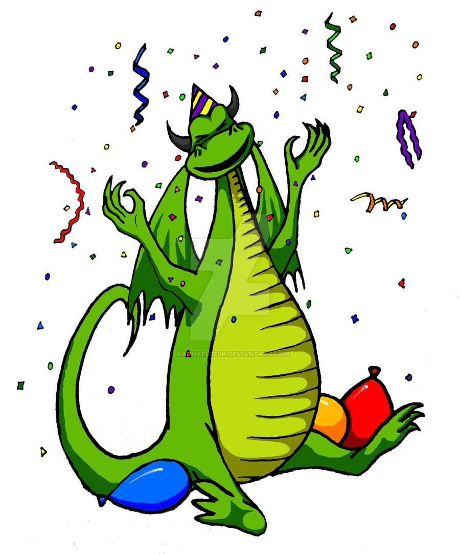 900x1082 Happy Birthday Dragon By Rachaelselk
