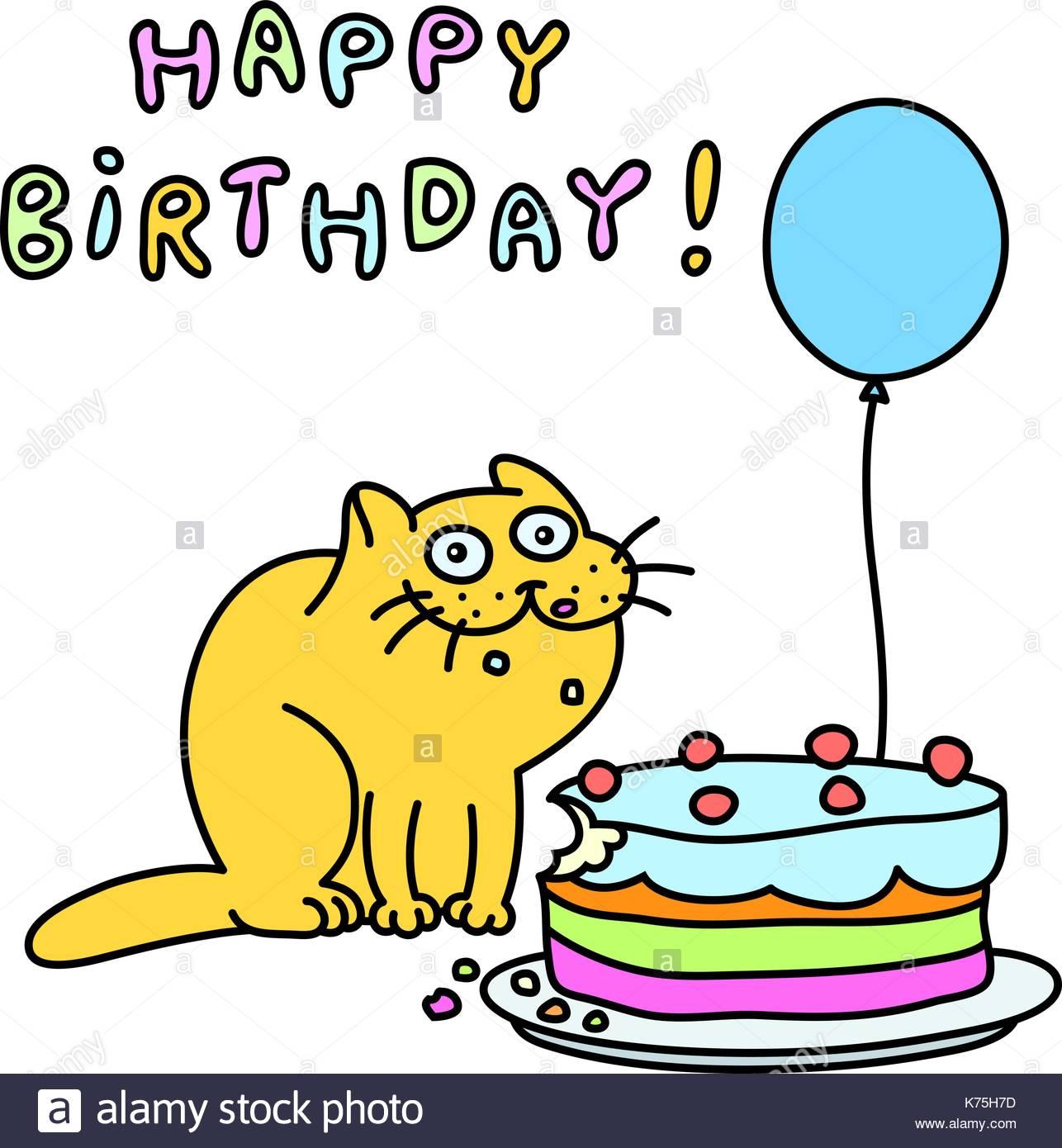 Happy Birthday Cat Clipart