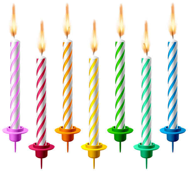 600x544 Birthday Candles Png Transparent Clip Art Image