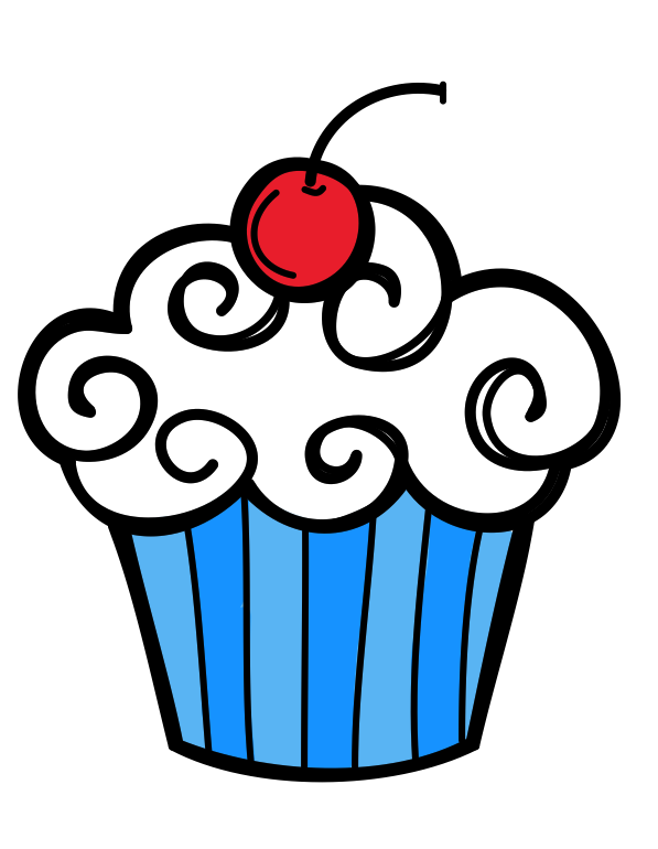 597x770 Birthday Cupcake Clip Art Many Interesting Cliparts