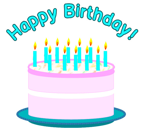 500x474 21st Birthday Cake Clipart