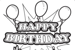 308x206 Coloring Amp Activity Pages Happy Birthday Sign Page