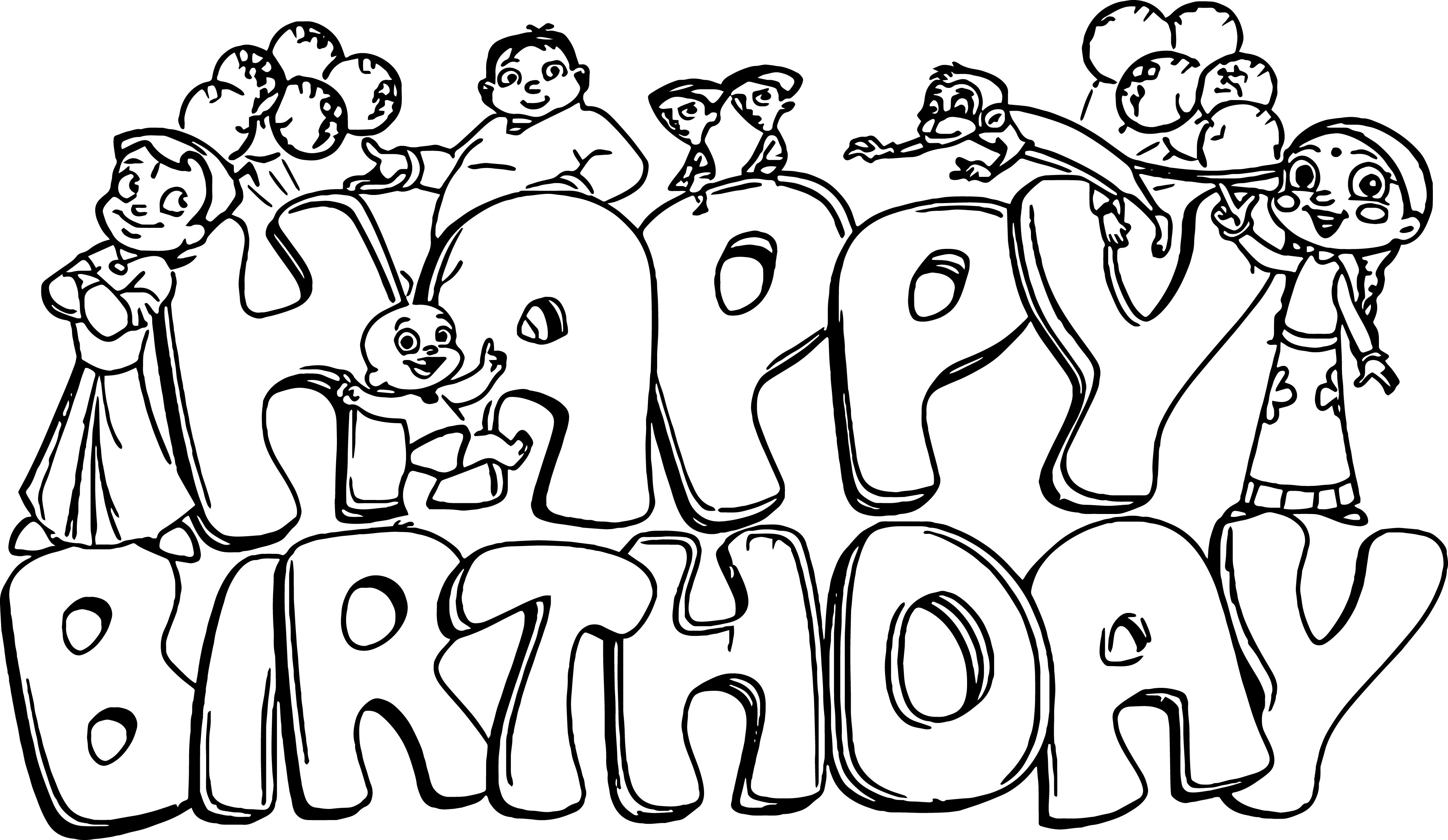 Happy Birthday Coloring Pages | Free download best Happy Birthday ...