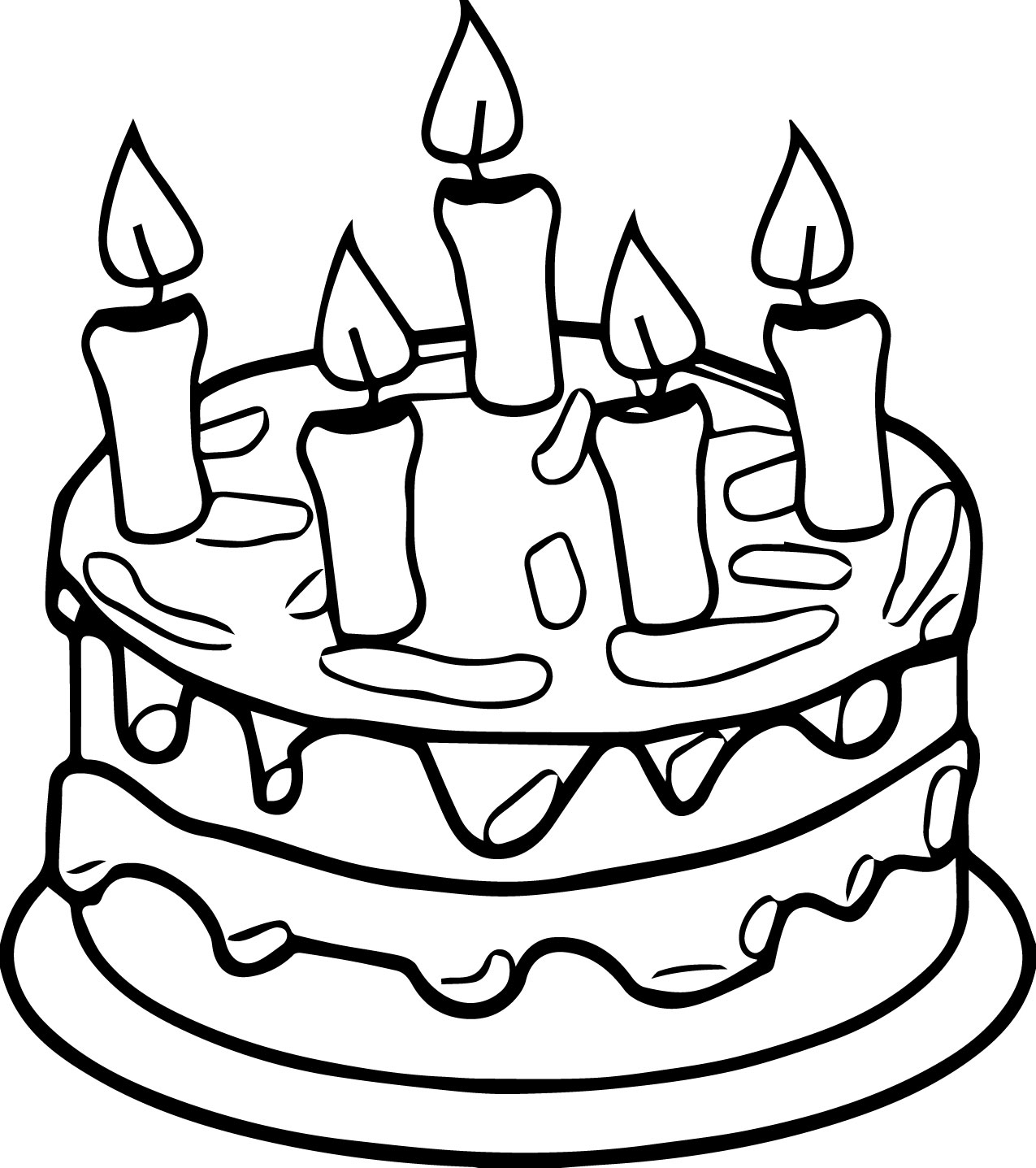 Happy Birthday Coloring Pages | Free download on ClipArtMag