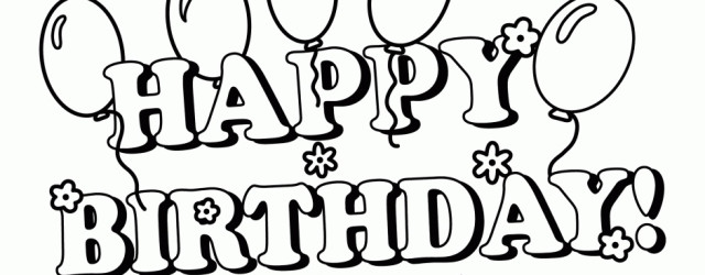 640x250 Birthday Coloring Pictures