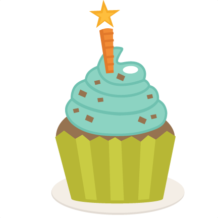 Birthday cake cupcake. Happy clipart free download