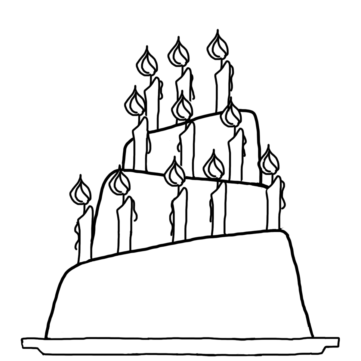 1200x1200 Birthday Cake Slice Drawing Images And Clip Art Cakes