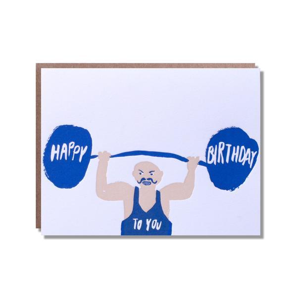 600x600 Happy Birthday Strong Man Egg Press