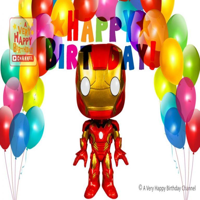 768x768 Beautiful Iron Man Sings Happy Birthday Song Greetings Marvel