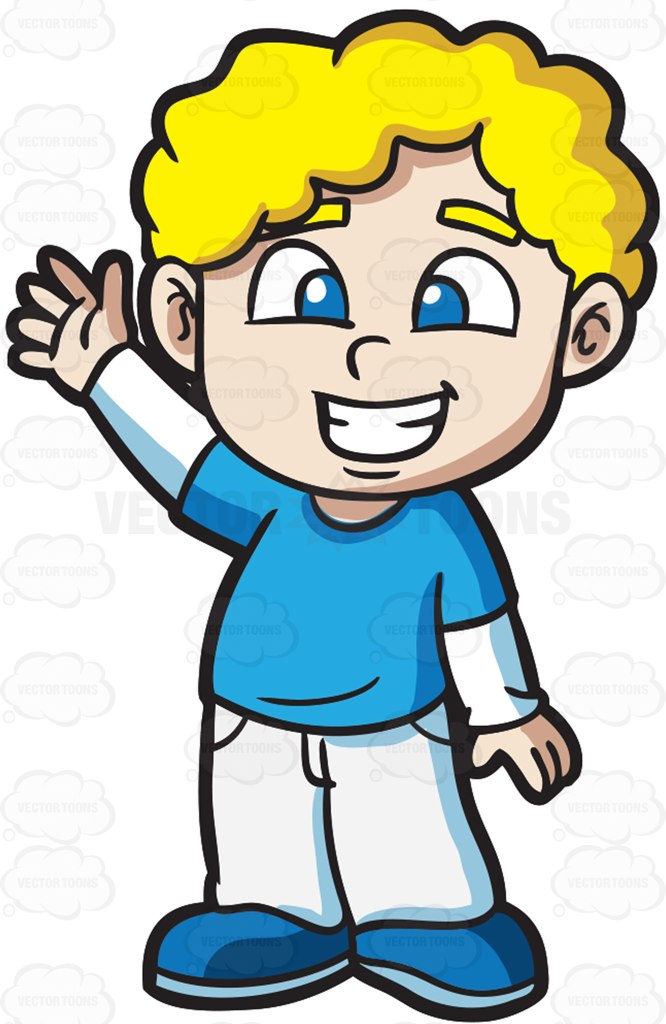 666x1024 A Very Friendly And Happy Boy Cartoon Clipart