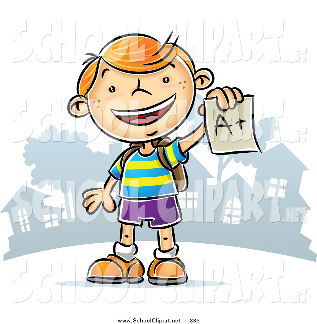 1024x1044 Clip Art Of A Happyd Cheerful Red Haired School Boy Holding