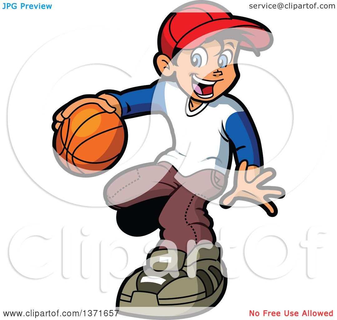 1080x1024 Clipart Of A Happy Black Boy Dribbling A Basketball