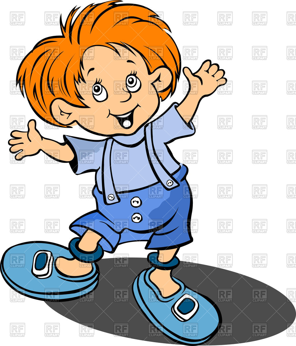1027x1200 Red Haired Happy Little Boy Royalty Free Vector Clip Art Image