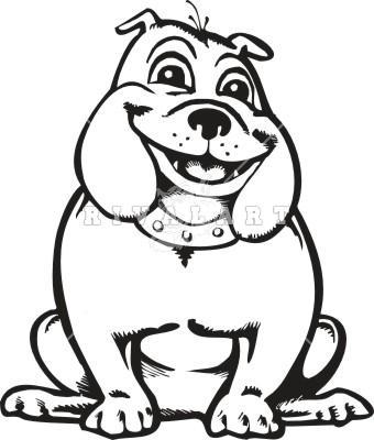 340x400 Bulldog Face Clip Art