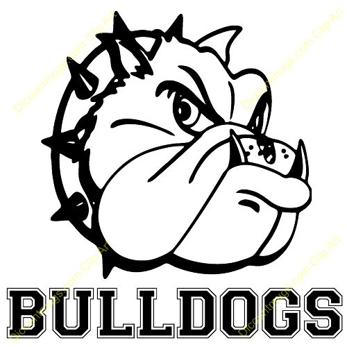 500x500 School Bulldog Clipart Free Photo