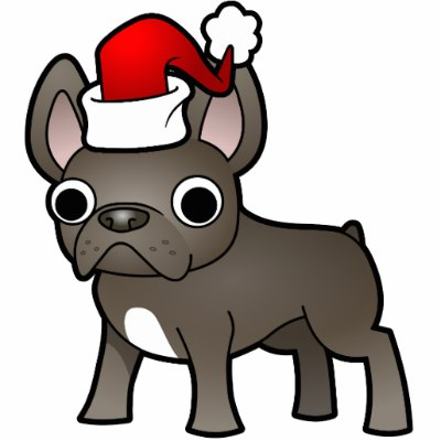 400x400 Bulldog Clipart Christmas