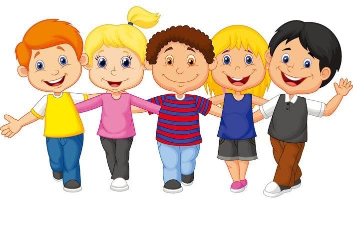 707x471 Clipart Happy Children