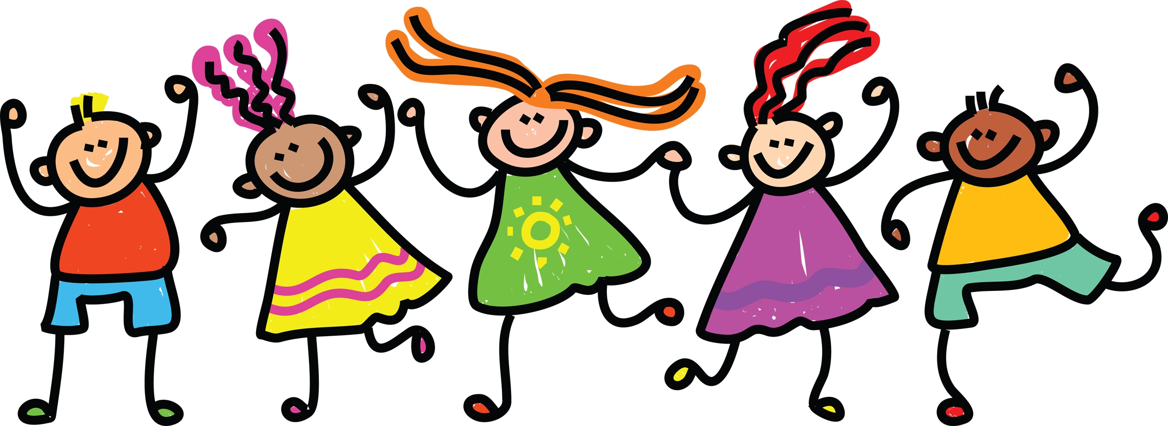 2400x877 Happy Kid Clipart