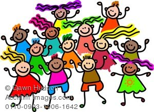 300x219 Illustration Of A Group Of Happy And Diverse Children