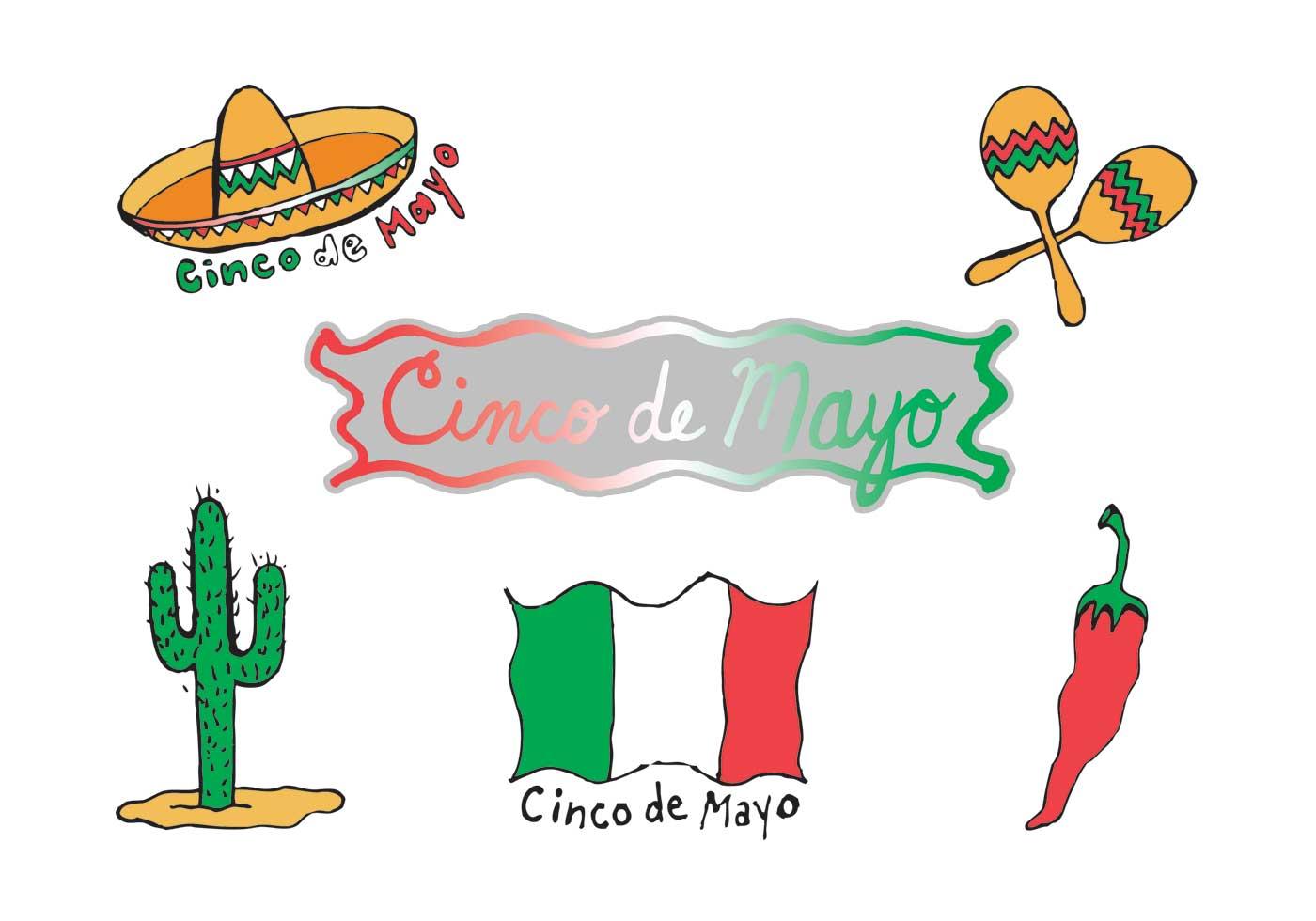 1400x980 Free Cinco De Mayo Clip Art Vector Series