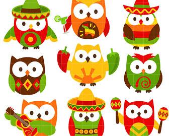 340x270 Owl Clipart Cinco De Mayo