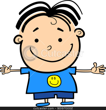 445x464 Clip Art Happy Boy Clipart