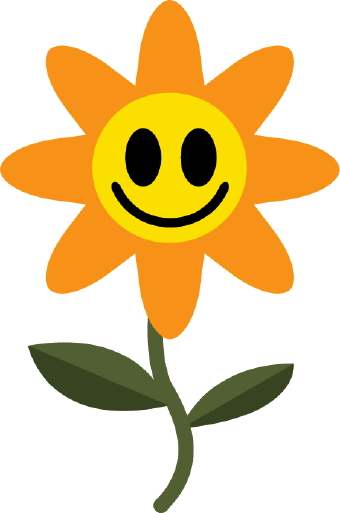 340x513 Happy Flower Clip Art
