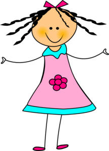 216x299 Happy Girl Clip Art