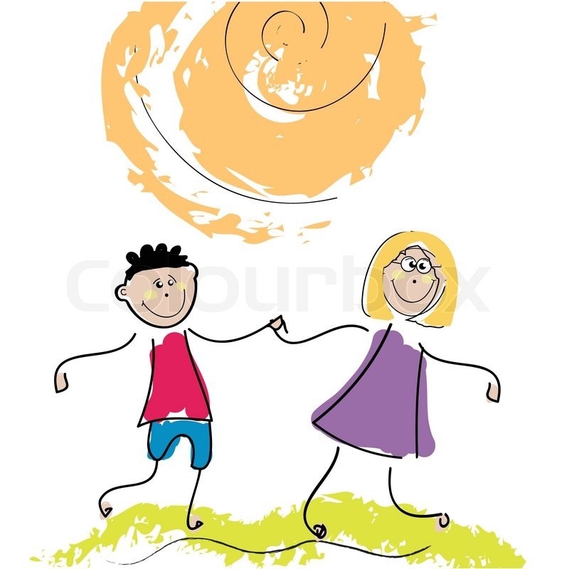 800x800 Happy Kids Illustration Clip Art Stock Vector Colourbox