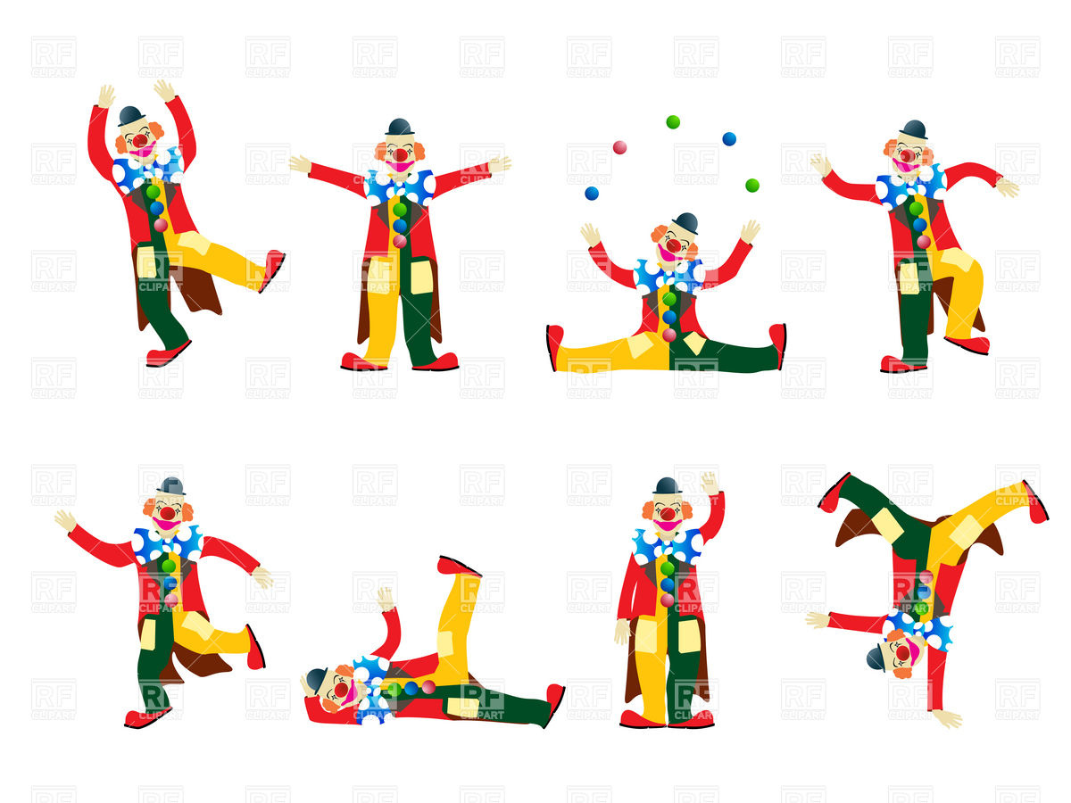 1200x900 Circus Happy Clown Fooling About Royalty Free Vector Clip Art